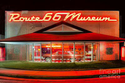 Route 66 Museum Poster by Twenty Two North Photography