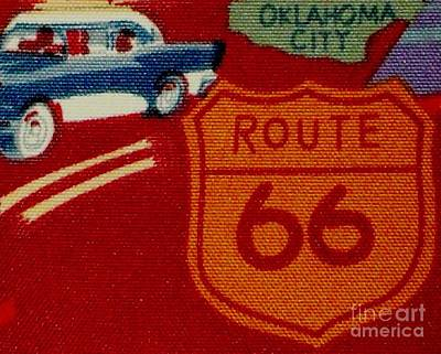Route 66 Oklahoma City Poster by Gail Matthews