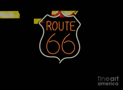 Route 66 Revisited Poster by Kelly Awad