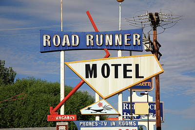 Route 66 - Road Runner Motel Poster by Frank Romeo