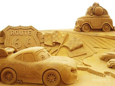 Route 66 Sandsculpture Poster by PainterArtist FIN