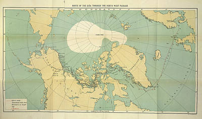 Route Of The Gjoa Poster by British Library