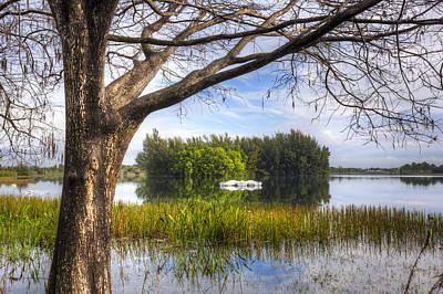 Rowboats At The Lake Poster by Debra and Dave Vanderlaan