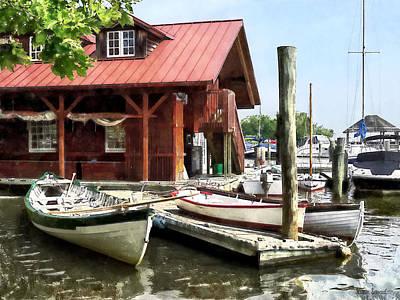 Alexandria Va - Rowboats By Founders Park Poster
