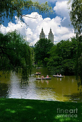 Rowboats Central Park New York Poster by Amy Cicconi