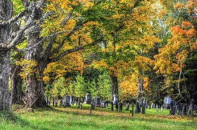 Rowell Cemetery Poster by John Nielsen