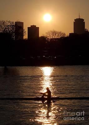 Rower Sunrise Poster