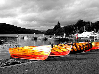 Rowing Boats Ready For Work Poster