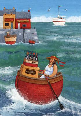 Rowing In Luxury Poster by Peter Adderley