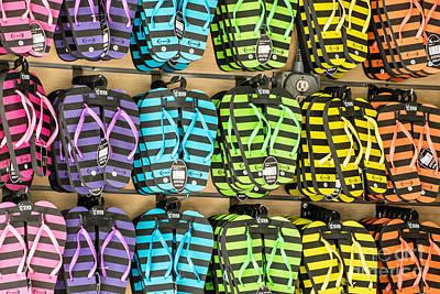 Rows Of Flip-flops Key West Poster by Ian Monk