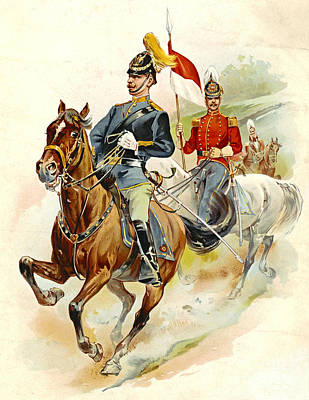 Roxbury Horse Guards 1895 Poster by Padre Art