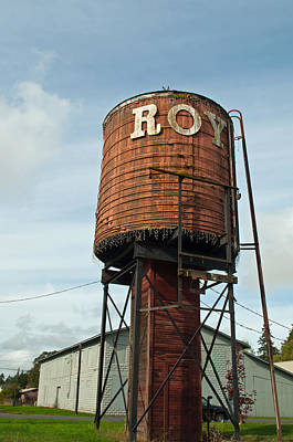 Roy Water Tower Poster by Tikvah's Hope