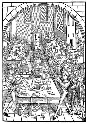 Royal Banquet, 1491 Poster by Granger