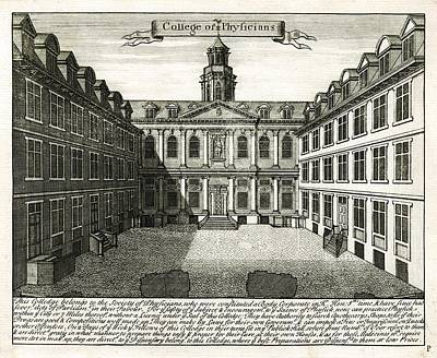 Royal College Of Physicians, 1724 Poster by Science Photo Library