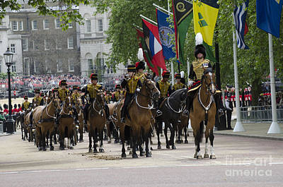 Royal Horse Guards Of The Cavalry Poster by Andrew Chittock