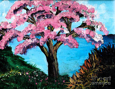 Royal Pink Poinciana Tree Poster