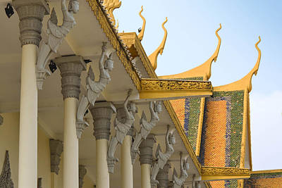 Royal Roof Cambodia Poster by Bill Mock
