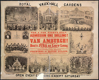 Royal Vauxhall Gardens Poster by British Library