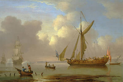 Royal Yacht Becalmed At Anchor Signed Poster by Litz Collection