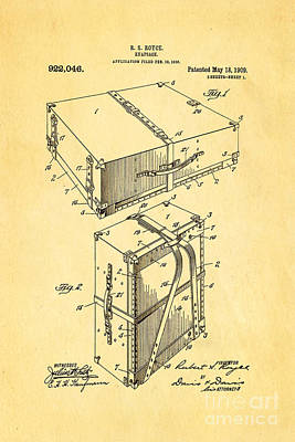 Royce Knapsack Patent Art 1909 Poster by Ian Monk