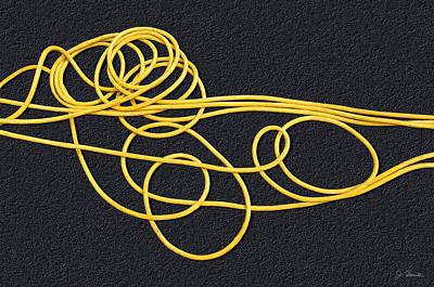 Rubber Spaghetti Poster by Joe Bonita