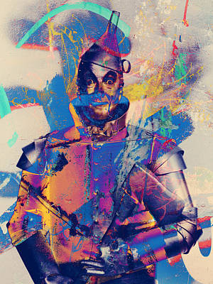 Rubber Tin Man  Poster by Jerry Cordeiro