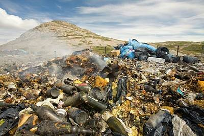 Rubbish Abandoned On A Tip Poster by Ashley Cooper