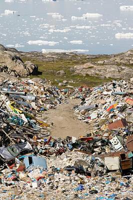 Rubbish Dumped On The Tundra Poster by Ashley Cooper