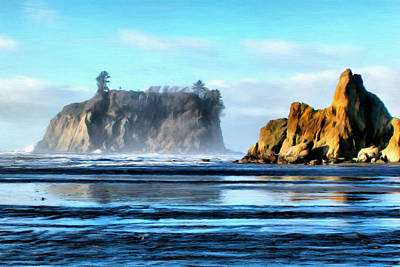 Ruby Beach Ocean View Poster