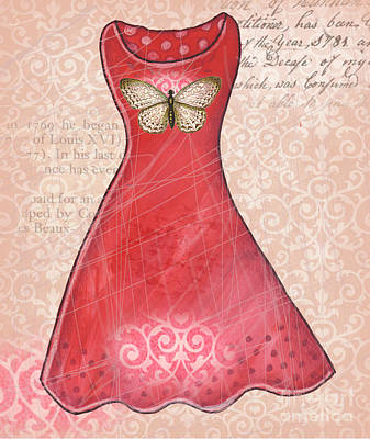 Ruby Dress Poster by Elaine Jackson