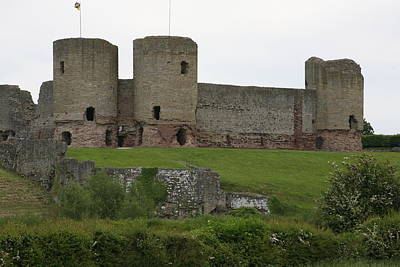 Poster featuring the photograph Ruddlan Castle 2 by Christopher Rowlands