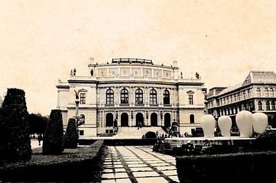 Rudolfinum Concert Hall Prague Poster by Elaine Weiss