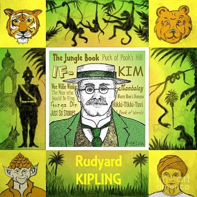 Rudyard Kipling Poster by Paul Helm