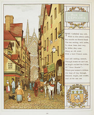 Rue De L'epicerie Poster by British Library