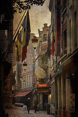 Rue Des Bouchers Poster by Joan Carroll