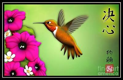 Rufus Hummingbird Poster