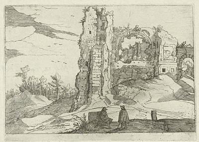 Ruin With A Gate, Willem Van Nieulandt II Poster