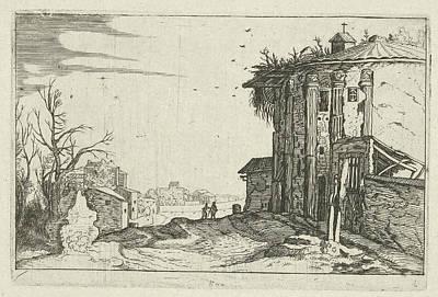 Ruin With Corinthian Columns, Willem Of Nieulandt II Poster