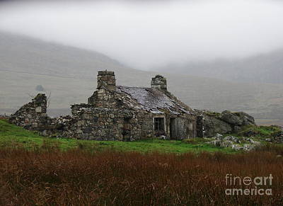 Ruined Cottage Snowdonia Poster