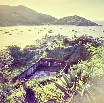 Ruins By A Harbor In Macau Poster by Nick De Morgoli