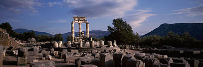 Ruins Of A Temple, The Tholos, Delphi Poster by Panoramic Images