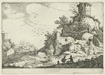 Ruins Of A Tower, Willem Van Nieulandt II Poster