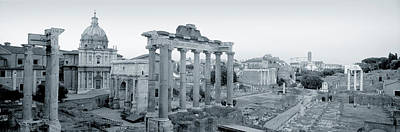 Ruins Of An Old Building, Rome, Italy Poster by Panoramic Images