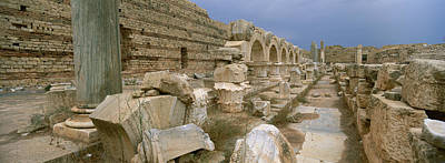 Ruins Of Ancient Roman City, Leptis Poster by Panoramic Images