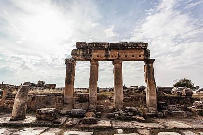 Ruins Of Columns And Lintel Poster