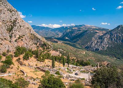 Ruins Of Delphi Poster