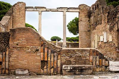 Ruins Of Ostia Antica Poster