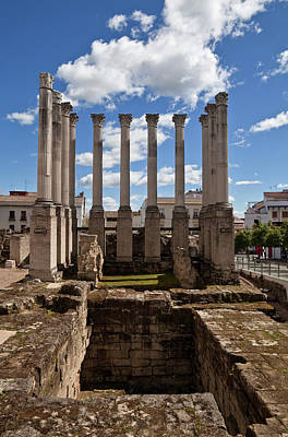 Ruins Of The Roman Temple In Cordoba Poster by Panoramic Images