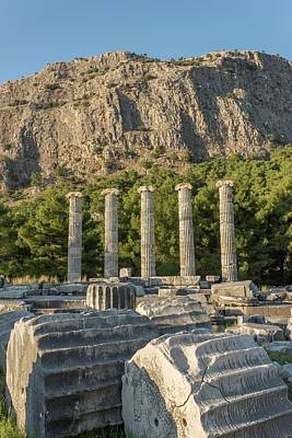 Ruins Of The Temple Of Athene Poster