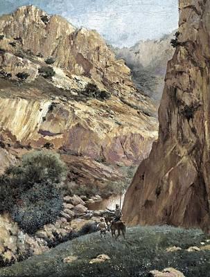 Ruiz Luna, Justo. Don Quixote At Sierra Poster by Everett
